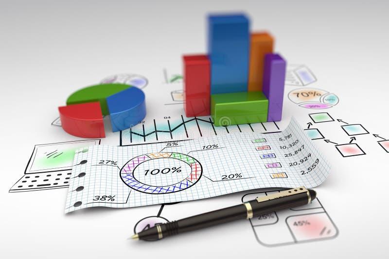 απόθεμα εκθέσεων ελέγχου αγοράς επιχειρησιακών γραφικών παραστάσεων στοκ εικόνες