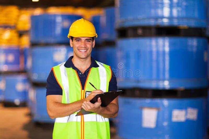 Απόθεμα καταγραφής εργαζομένων στοκ φωτογραφία με δικαίωμα ελεύθερης χρήσης
