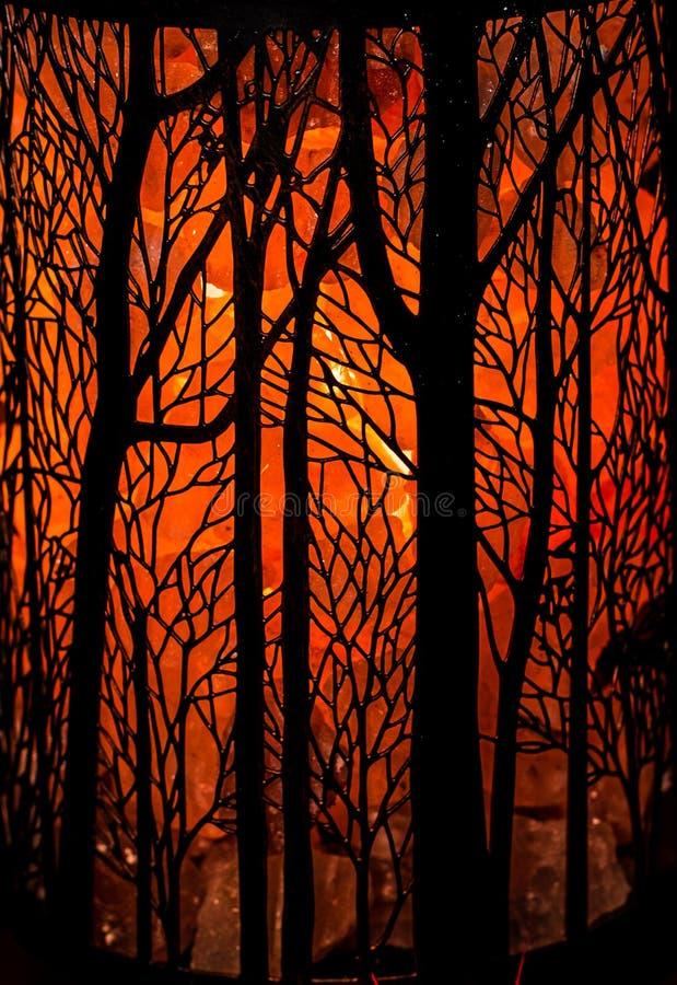 Απόκοσμο πορτοκαλί υπόβαθρο δέντρων στοκ φωτογραφία