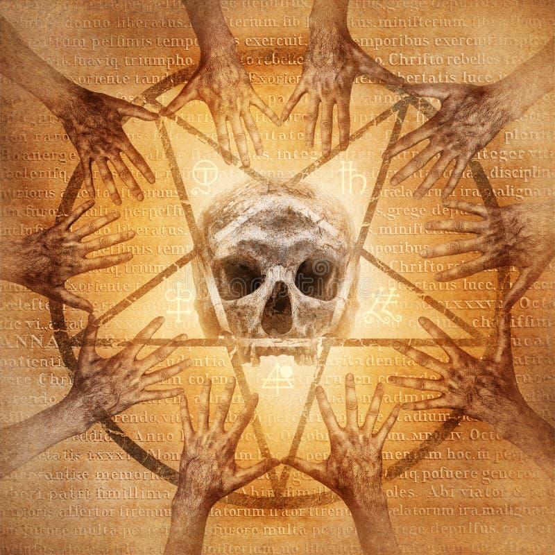 Απόκρυφο Seance διανυσματική απεικόνιση