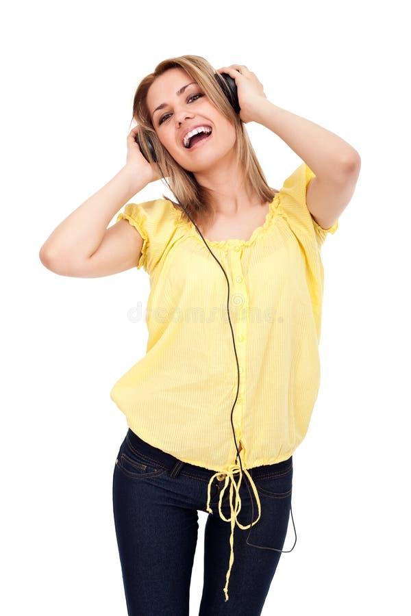 απόλαυση της μουσικής κ&om στοκ φωτογραφία