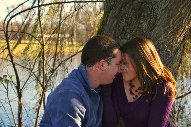 Απόλαυση της ο ένας του άλλου επιχείρησης και της αγάπης στοκ φωτογραφία