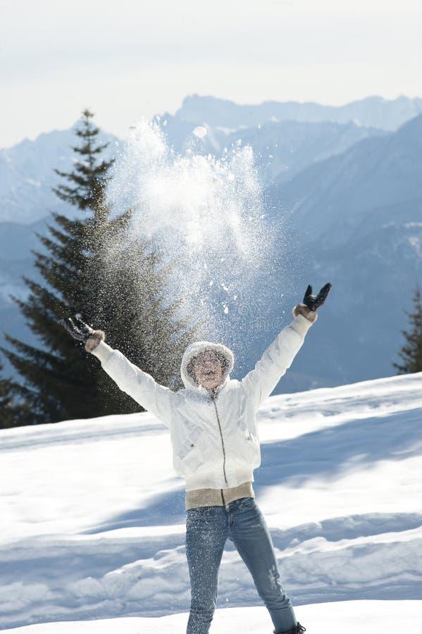 Απόλαυση του χειμώνα Στοκ Εικόνα