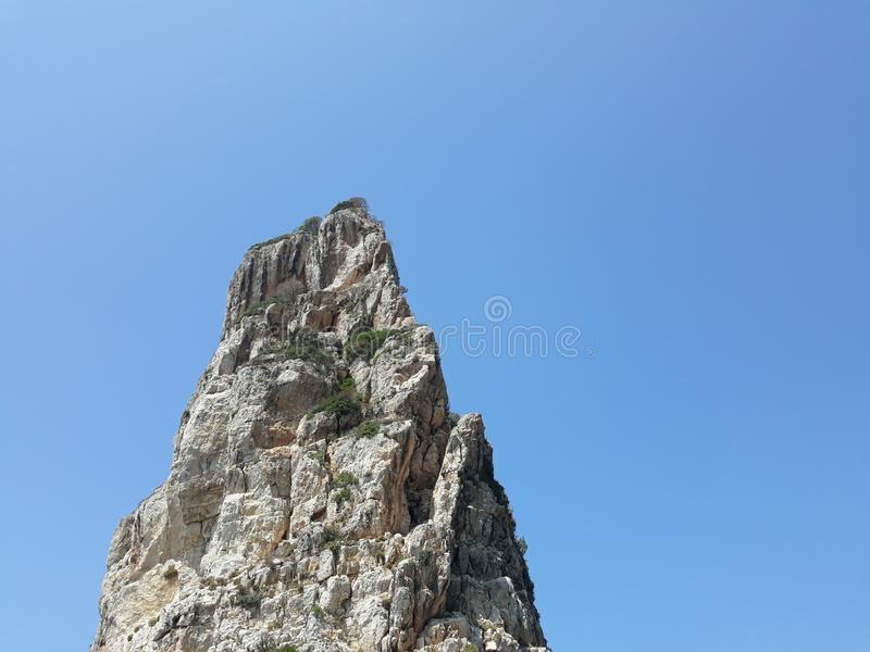 Απόμερος βράχος στα paxos στοκ εικόνα με δικαίωμα ελεύθερης χρήσης