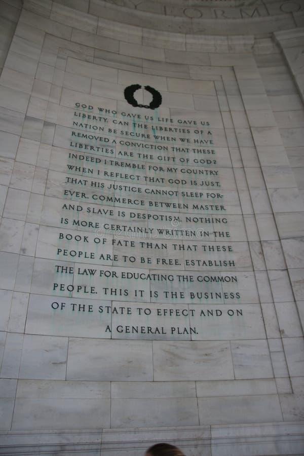 Απόσπασμα το Jefferson στοκ εικόνα