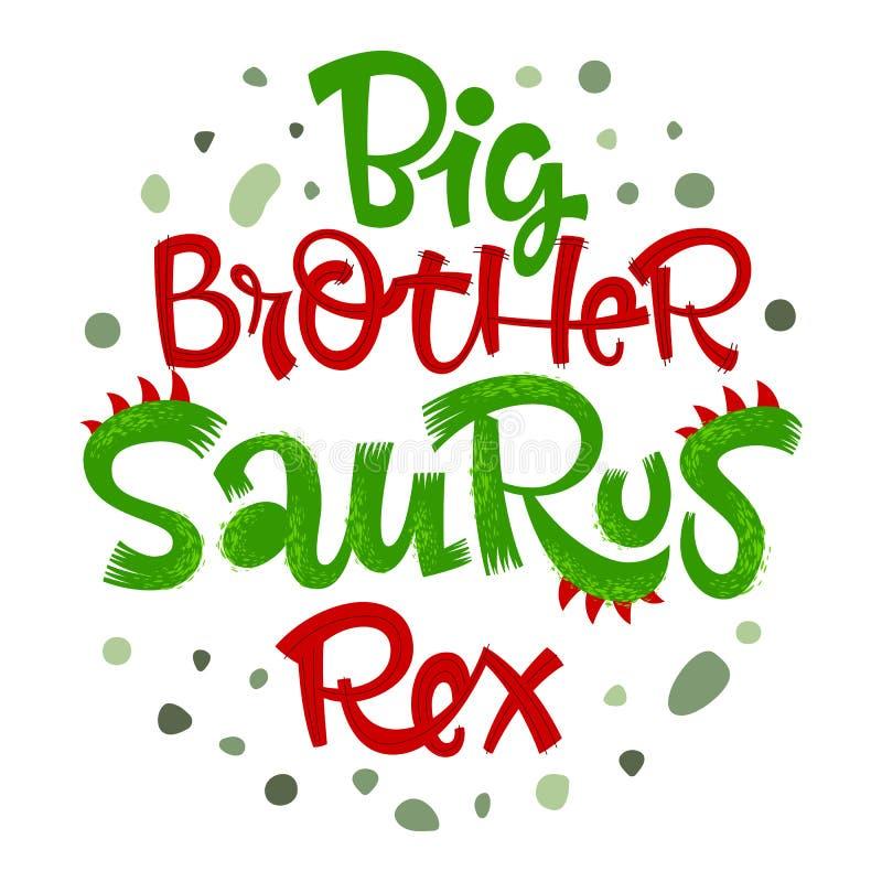 Απόσπασμα Saurus Rex Μεγάλων Αδερφών Handdrawn ύφος δεινοσαύρων διασκέδασης που γράφει το διανυσματικό λογότυπο ελεύθερη απεικόνιση δικαιώματος