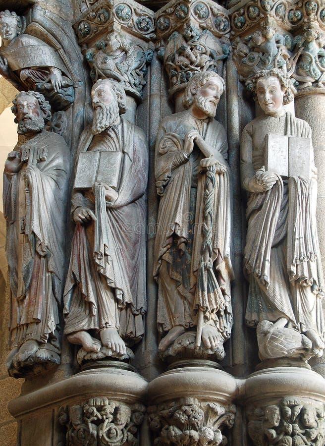 Απόστολοι στην πύλη της Gloria - Σαντιάγο de Compostela στοκ φωτογραφία