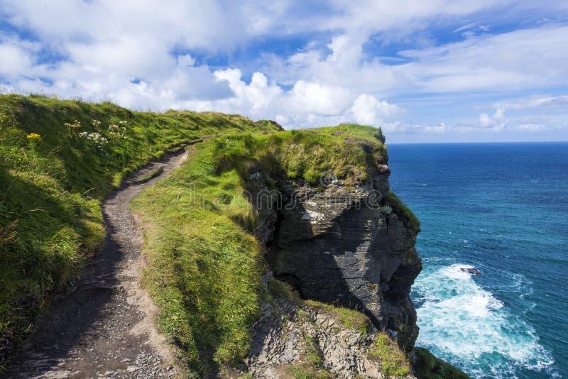 Απότομοι βράχοι και ωκεανός στοκ φωτογραφίες με δικαίωμα ελεύθερης χρήσης