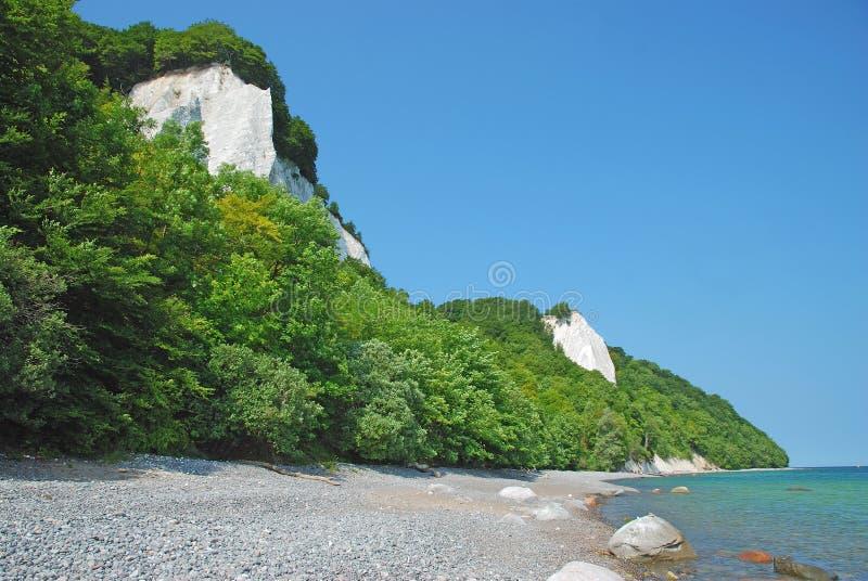 Απότομοι βράχοι κιμωλίας, Ruegen νησί, Γερμανία στοκ φωτογραφία