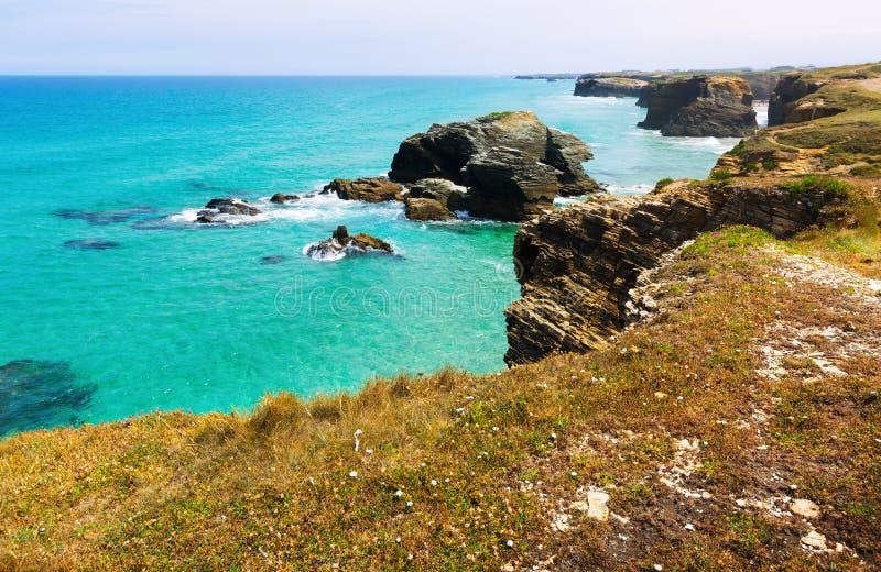 Απότομοι βράχοι στην ακτή Cantabric στοκ φωτογραφίες με δικαίωμα ελεύθερης χρήσης