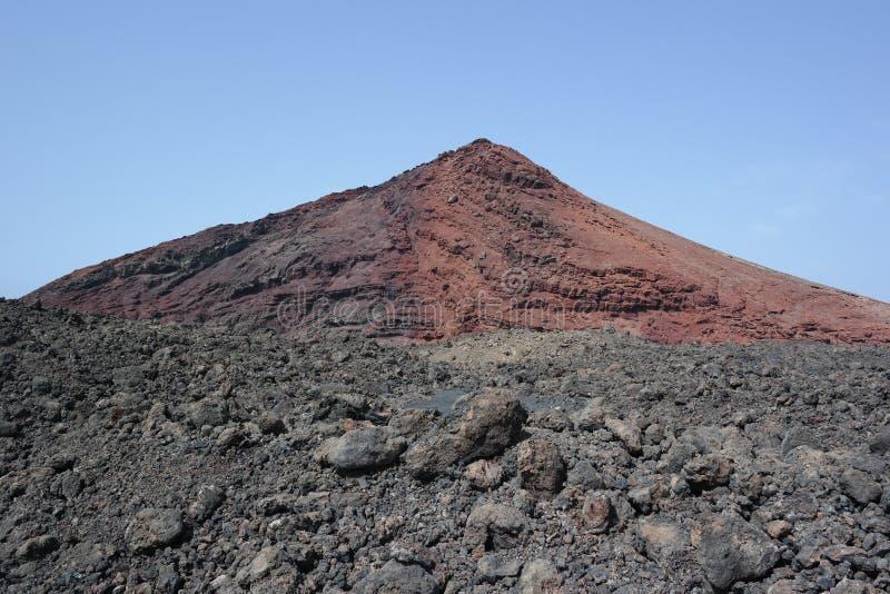 Απότομοι βράχοι golfo EL, νησιά Lanzarote, canaria στοκ εικόνες