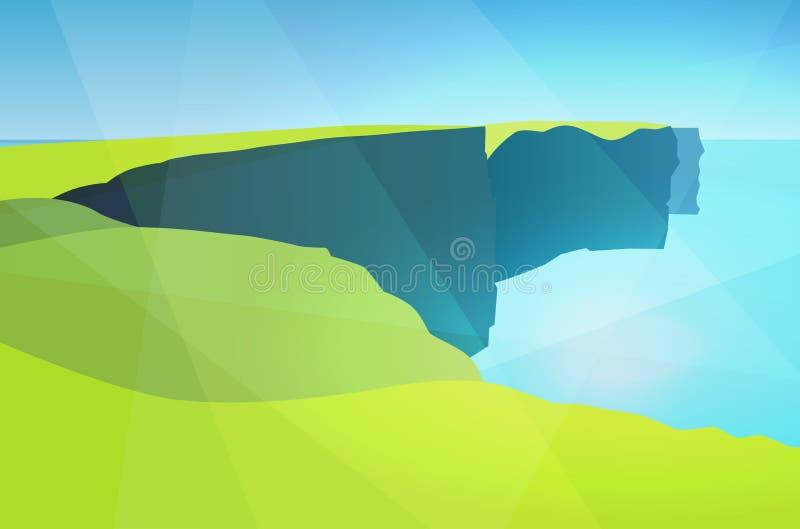 Απότομοι βράχοι Moher διανυσματική απεικόνιση