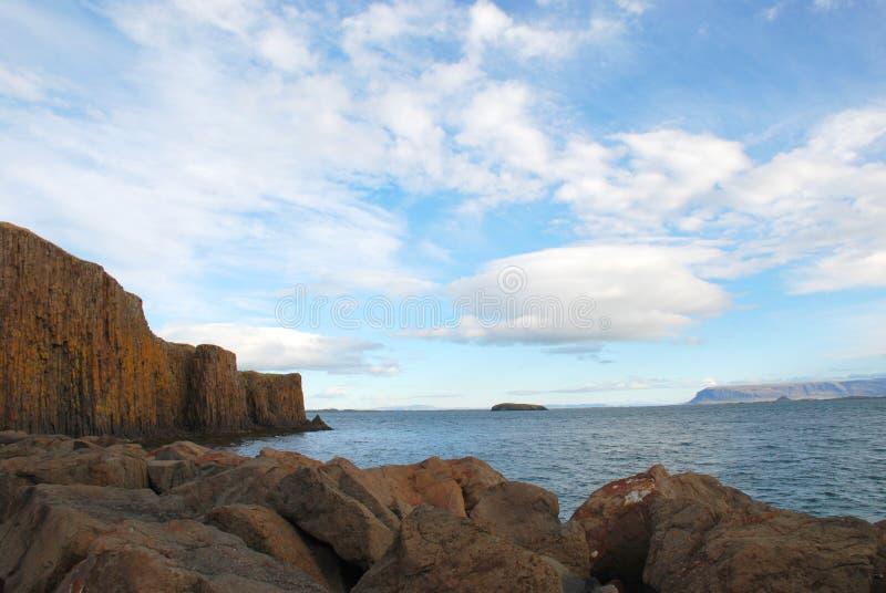 Απότομοι βράχοι Skykkisholmur, Ισλανδία στοκ φωτογραφία με δικαίωμα ελεύθερης χρήσης