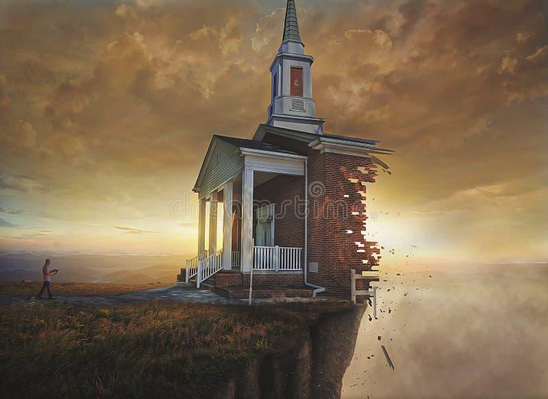 απότομος βράχος εκκλησιών στοκ εικόνες