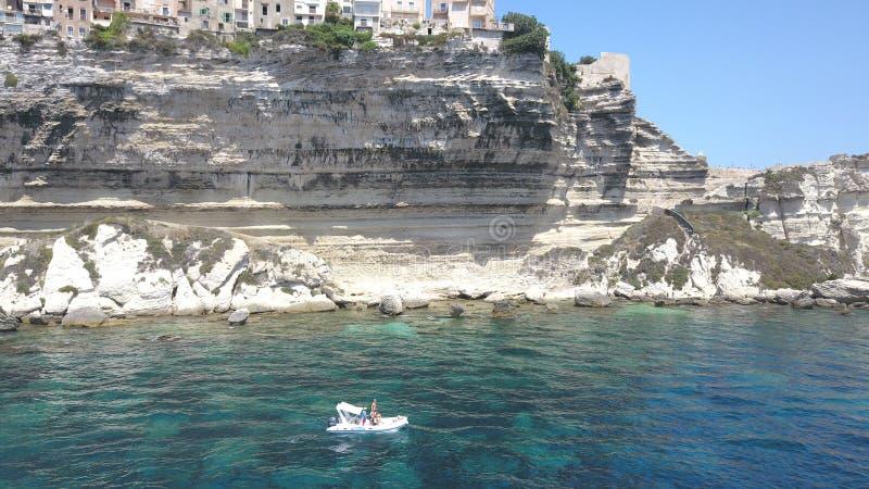 Απότομος βράχος Bonifacio στοκ φωτογραφία με δικαίωμα ελεύθερης χρήσης