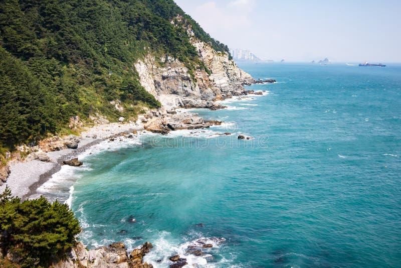 Απότομος βράχος Taejongdae, Busan, Κορέα 2 στοκ φωτογραφίες