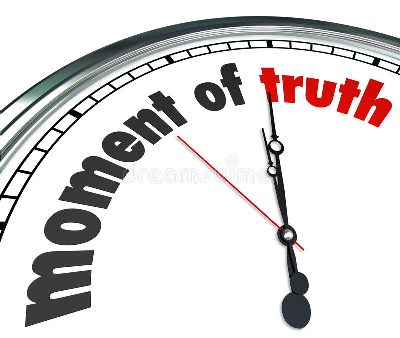 Απόφαση έκβασης απάντησης ρολογιών ώρας της αλήθειας αναγγελθείσα απεικόνιση αποθεμάτων