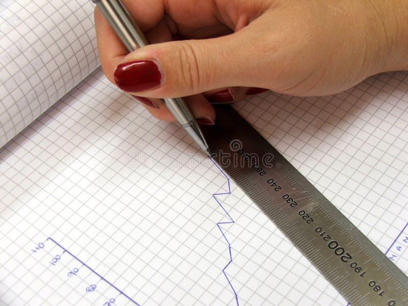 απόφαση γραφικών παραστάσεων στάσιμη στοκ φωτογραφία με δικαίωμα ελεύθερης χρήσης