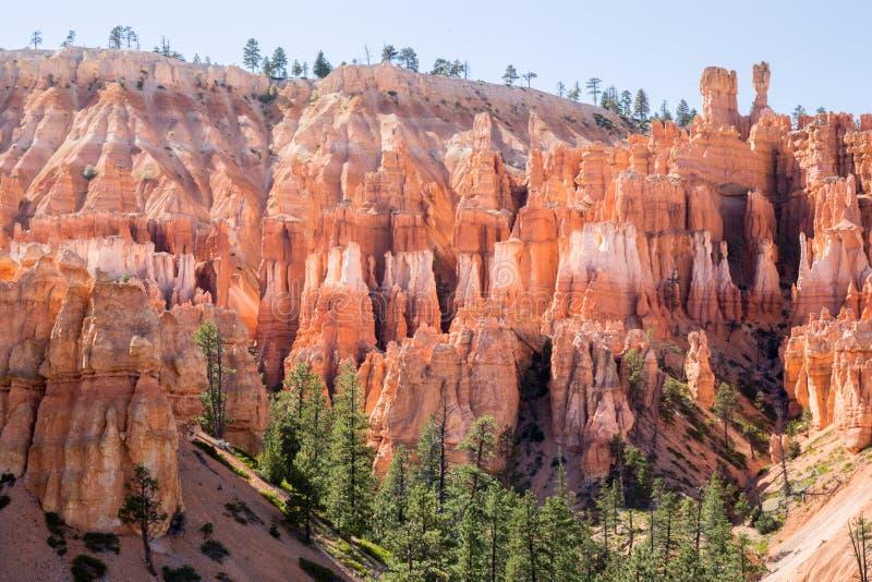 Απόψεις μεσημβρίας του εθνικού πάρκου φαραγγιών του Bryce, Γιούτα, ΗΠΑ στοκ εικόνες με δικαίωμα ελεύθερης χρήσης