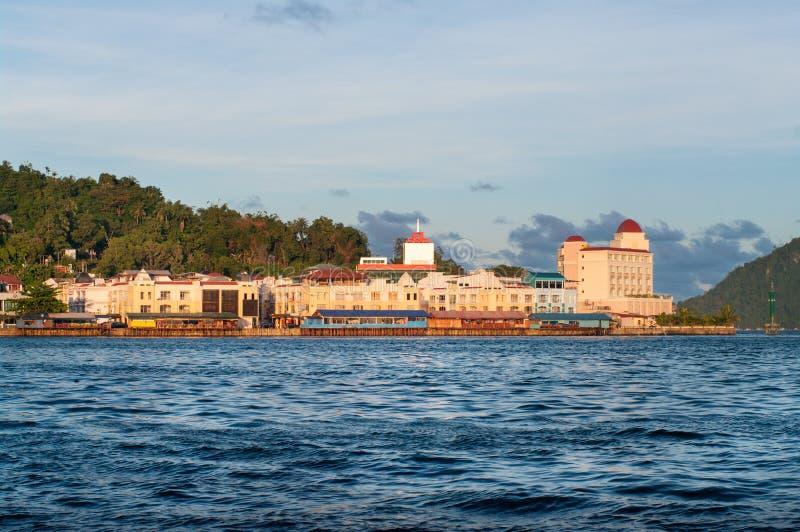 Απόψεις της προκυμαίας Jayapura στοκ φωτογραφίες