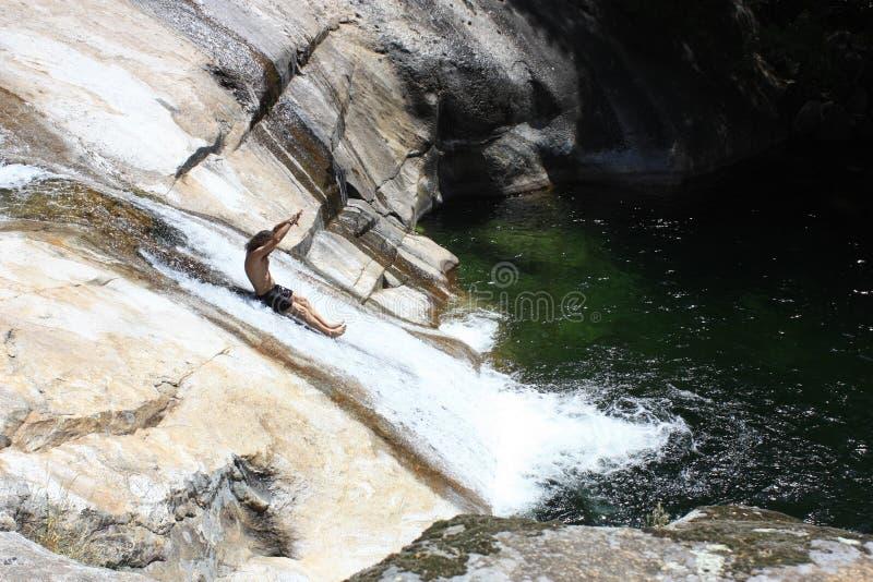 Απόψεις του waterfull στην οροσειρά de Gredos, Λα Βέρα, CÃ ¡ ceres, Εστρεμαδούρα στοκ φωτογραφίες