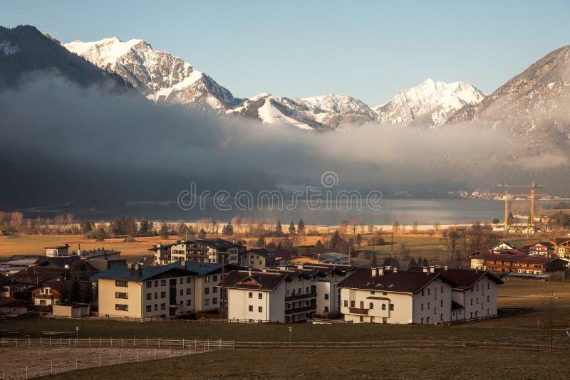Απόψεις Achensee και Pertisau από Maurach, Αυστρία στοκ φωτογραφία με δικαίωμα ελεύθερης χρήσης