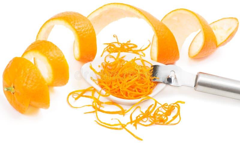 Απόλαυση και φλούδα του πορτοκαλιού στοκ φωτογραφίες με δικαίωμα ελεύθερης χρήσης