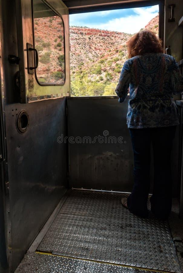 Απόλαυση της θέας, σιδηρόδρομος φαραγγιών Verde στοκ φωτογραφία