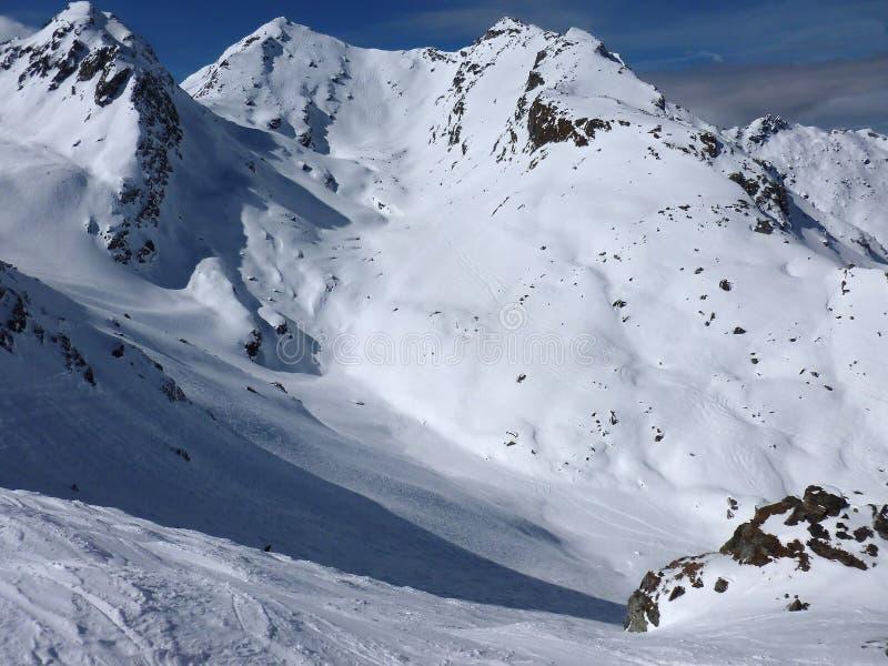 Από να κάνει σκι ιχνών την ευδαιμονία στοκ φωτογραφία με δικαίωμα ελεύθερης χρήσης