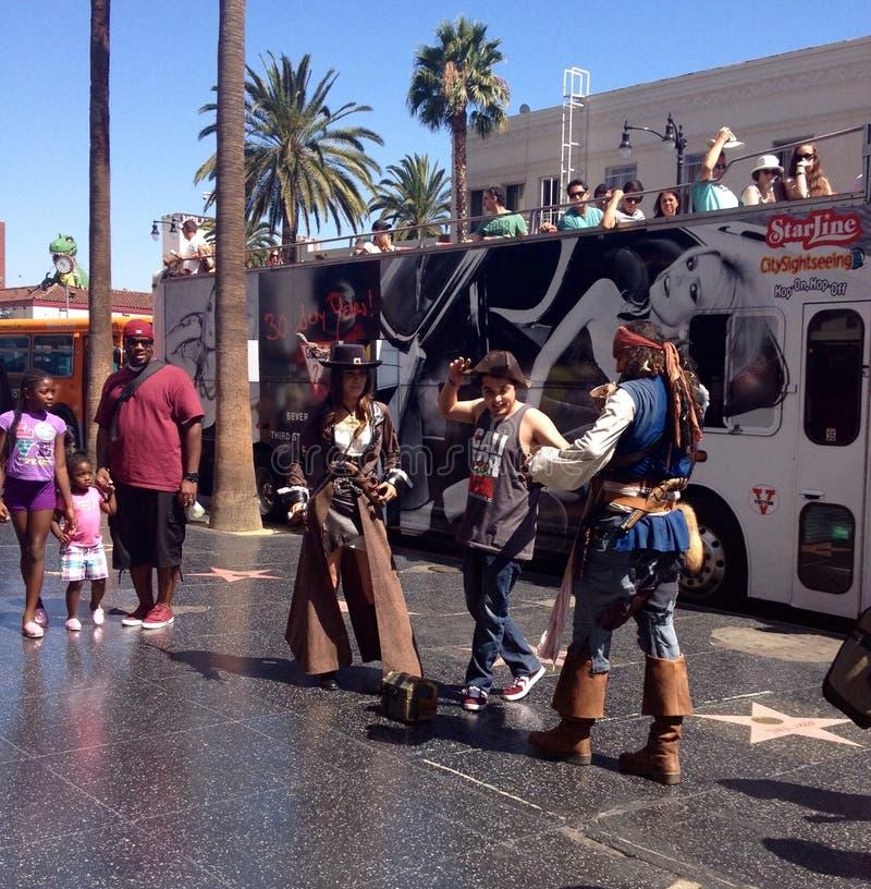 Απόδοση οδών σε Hollywood, Καλιφόρνια, ΗΠΑ στοκ εικόνες