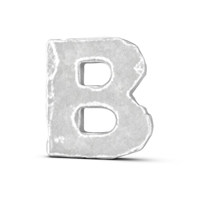 Απόδοση του γράμματος Β πετρών που απομονώνεται στο άσπρο υπόβαθρο ελεύθερη απεικόνιση δικαιώματος