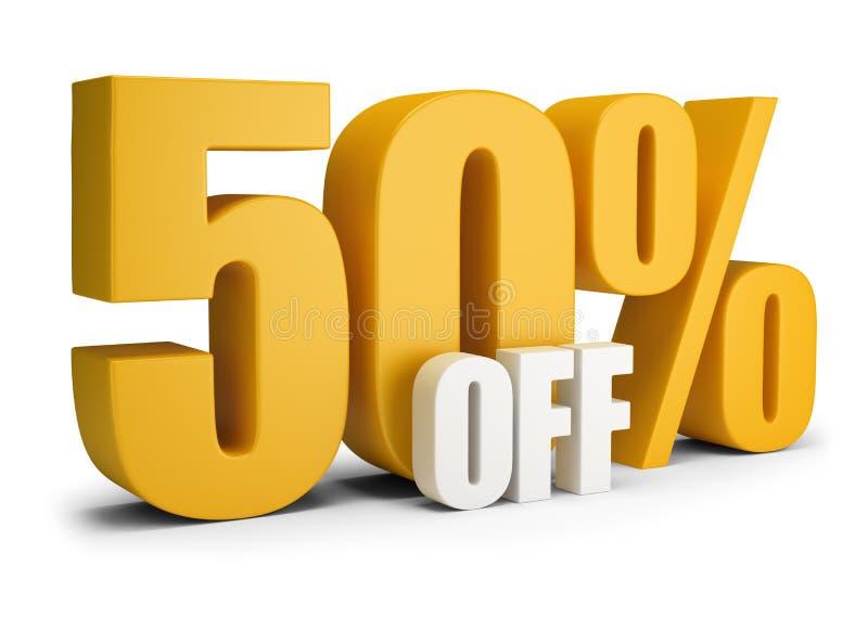 50 από τα τοις εκατό ελεύθερη απεικόνιση δικαιώματος