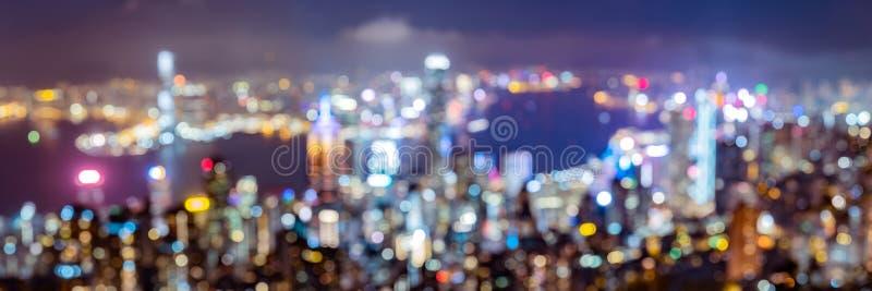 Από την άποψη εστίασης του ορίζοντα Χονγκ Κονγκ στοκ εικόνες