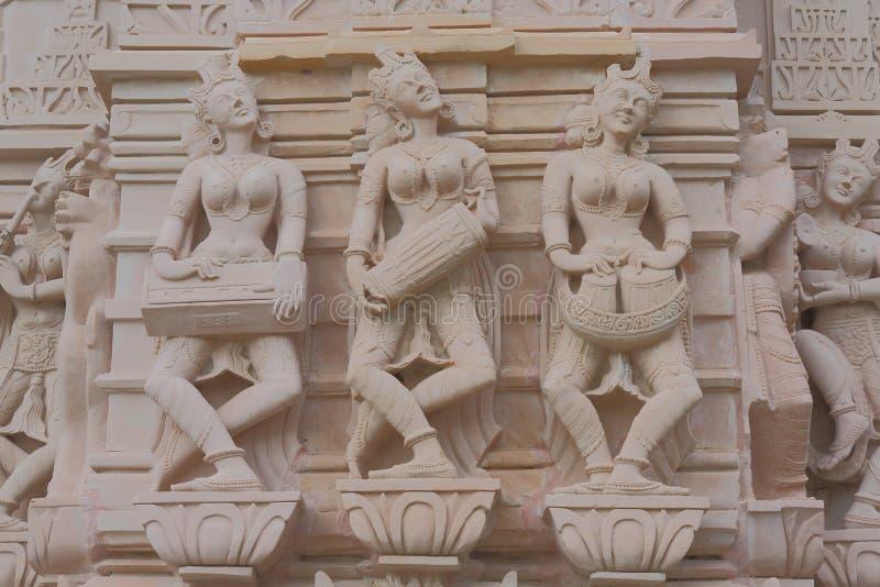 Από την ανασκαφή, στην κόκκινη πέτρα των χορευτών, την καλλιτεχνική απεικόνιση στοκ εικόνες