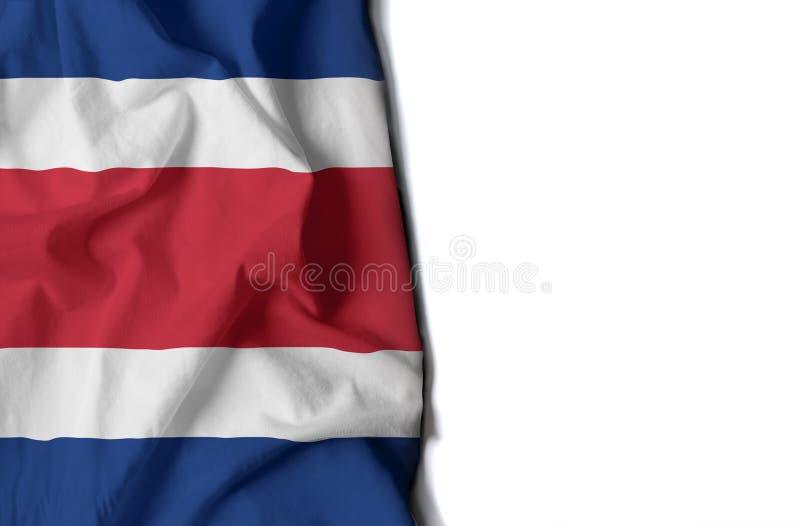 Από την Κόστα Ρίκα ζαρωμένη σημαία, διάστημα για το κείμενο στοκ φωτογραφία