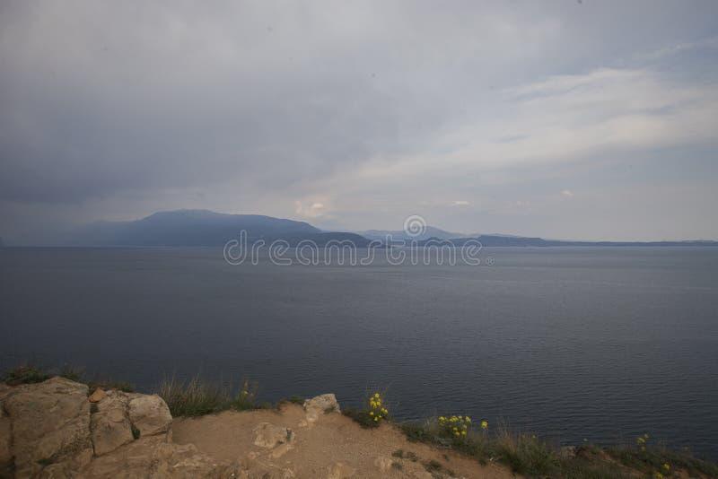 Από την παραλία στη λίμνη Garda στοκ εικόνα με δικαίωμα ελεύθερης χρήσης