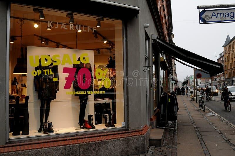 70% από την πώληση στο δανικό udsalg στοκ φωτογραφίες