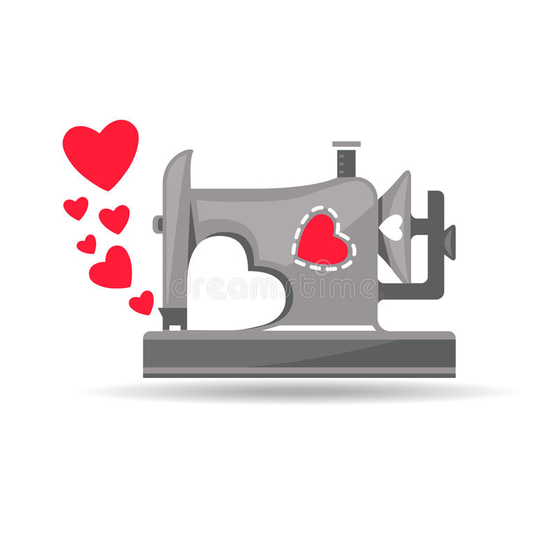Από τη ράβοντας μηχανή με την αγάπη απεικόνιση αποθεμάτων