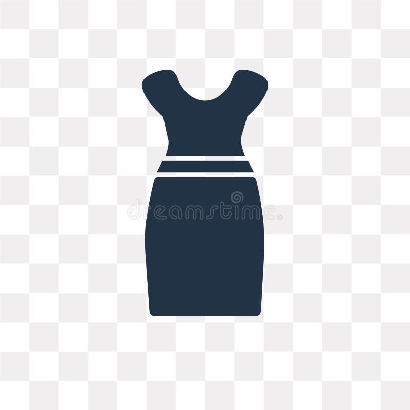 Από το διανυσματικό εικονίδιο φορεμάτων ώμων που απομονώνεται στο διαφανές backg ελεύθερη απεικόνιση δικαιώματος
