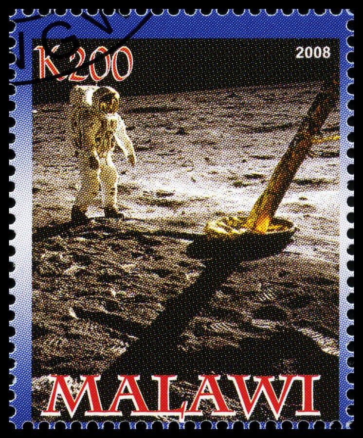 Απόλλωνας 11 γραμματόσημο από το Μαλάουι στοκ φωτογραφία με δικαίωμα ελεύθερης χρήσης
