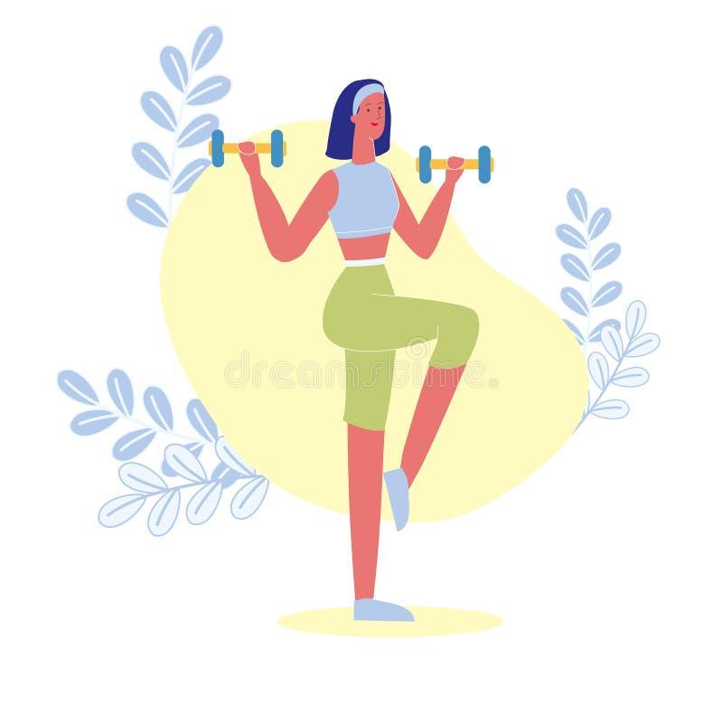 Απώλεια βάρους, αθλητισμός που εκπαιδεύει τη διανυσματική απεικόνιση ελεύθερη απεικόνιση δικαιώματος