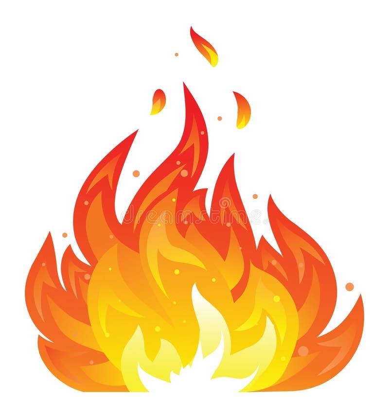 Απομονωμένο εικονίδιο πυρκαγιάς στοκ φωτογραφία με δικαίωμα ελεύθερης χρήσης