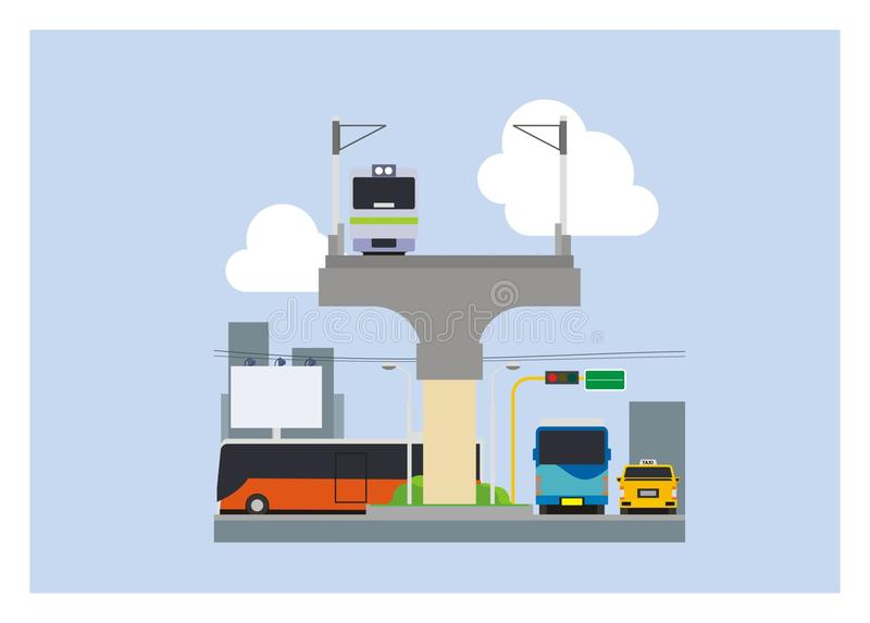 Απλή απεικόνιση τρόπου μεταφορών πόλεων απεικόνιση αποθεμάτων