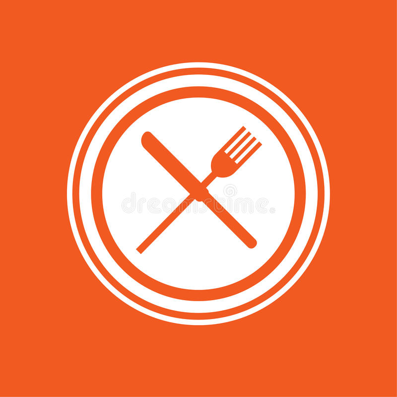 Απλή διανυσματική απεικόνιση εικονιδίων γευμάτων στοκ εικόνα