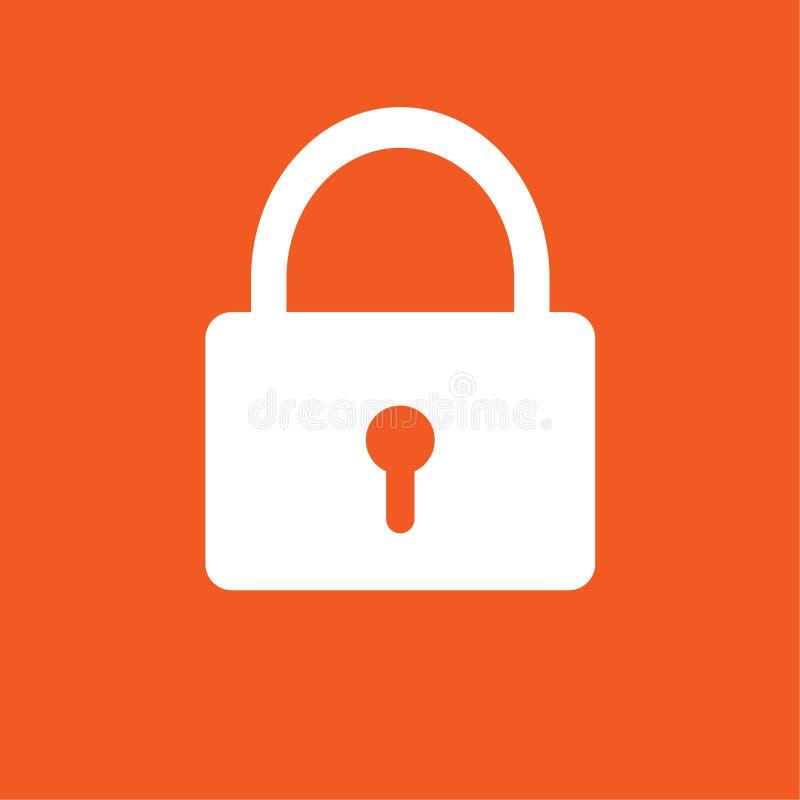 Απλή διανυσματική απεικόνιση εικονιδίων κλειδαριών στοκ φωτογραφίες με δικαίωμα ελεύθερης χρήσης