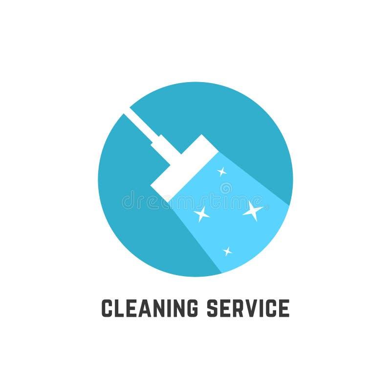 Απλή καθαρίζοντας υπηρεσία logotype ελεύθερη απεικόνιση δικαιώματος