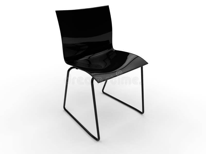 Απλή μαύρη καρέκλα ελεύθερη απεικόνιση δικαιώματος