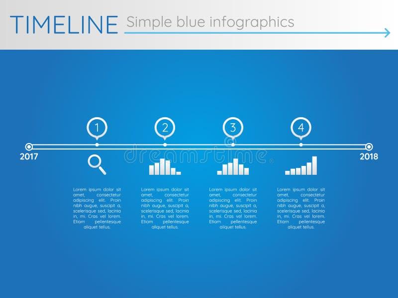Απλή μπλε υπόδειξη ως προς το χρόνο 26, διάνυσμα infographics ελεύθερη απεικόνιση δικαιώματος