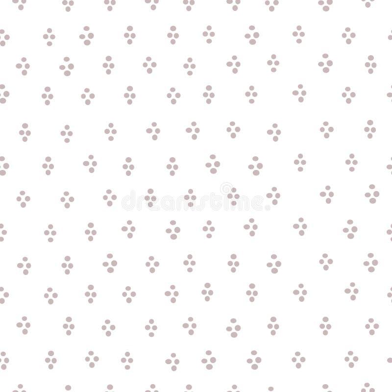 Απλή στρογγυλή άνευ ραφής διανυσματική τυπωμένη ύλη κομφετί σταγόνων ελεύθερη απεικόνιση δικαιώματος