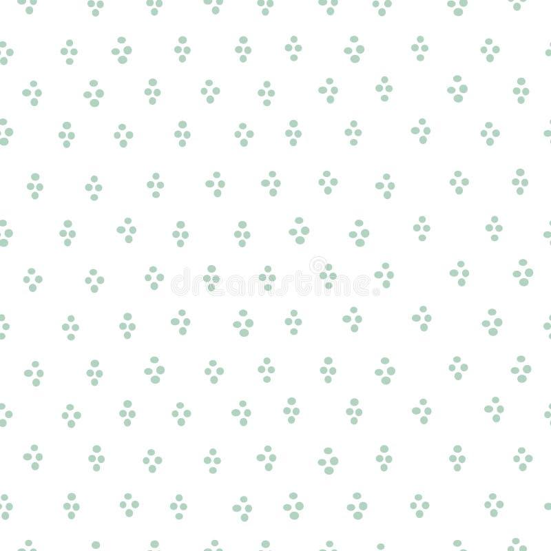 Απλή στρογγυλή άνευ ραφής διανυσματική τυπωμένη ύλη κομφετί σταγόνων μεντών ελεύθερη απεικόνιση δικαιώματος